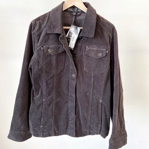 Brown cord FDJ shacket  NWT size Large